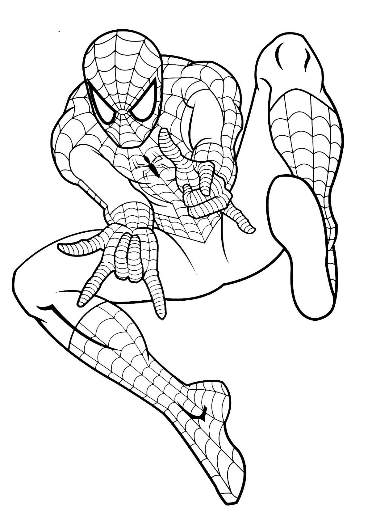 spiderman picture to color coloring pages spiderman free printable coloring pages spiderman color to picture