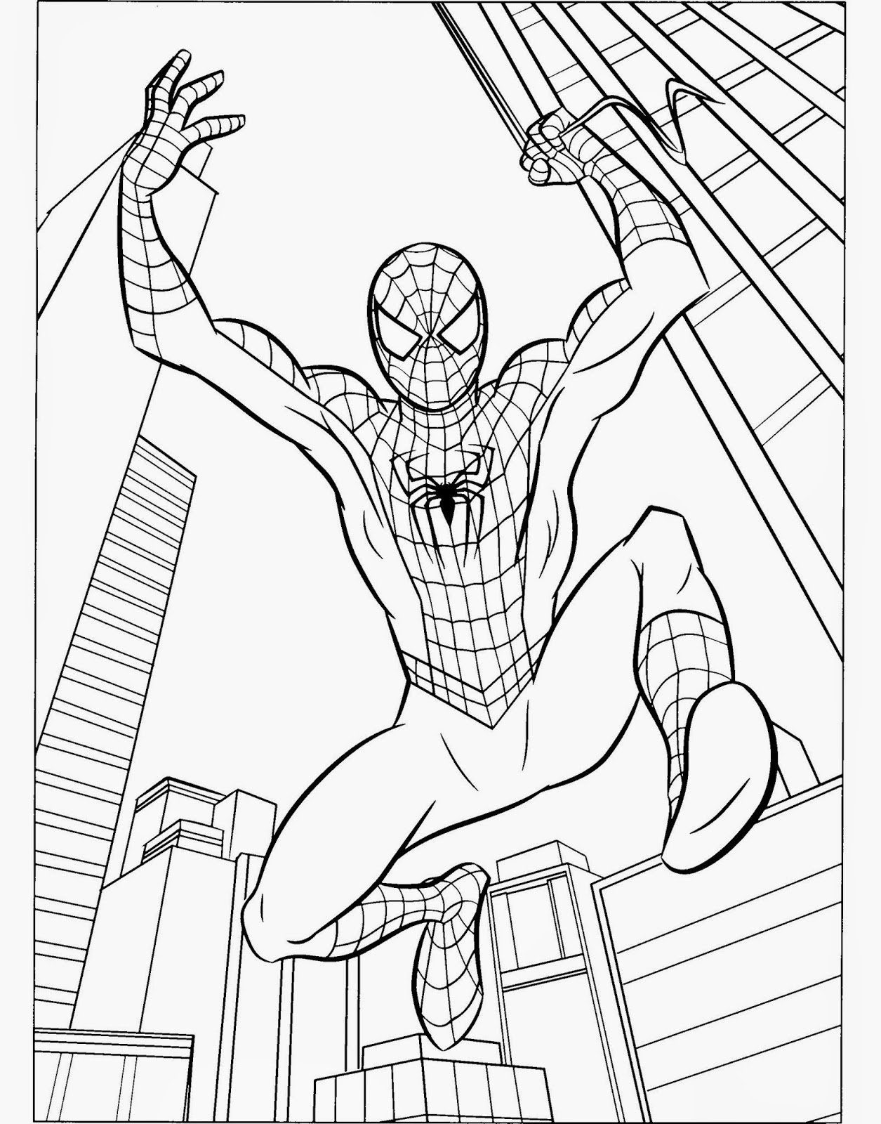 spiderman picture to color print download spiderman coloring pages an enjoyable color picture to spiderman