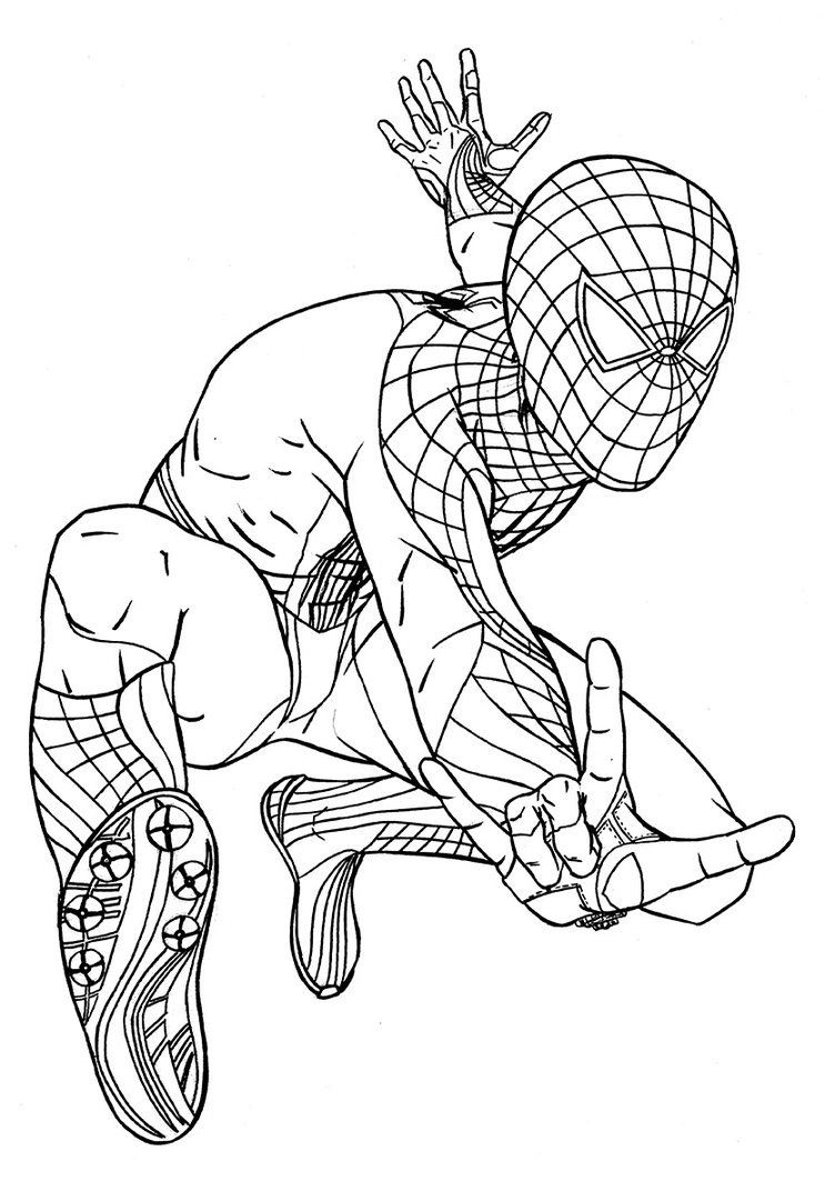 spiderman picture to color printable spiderman coloring pages for kids picture to color spiderman