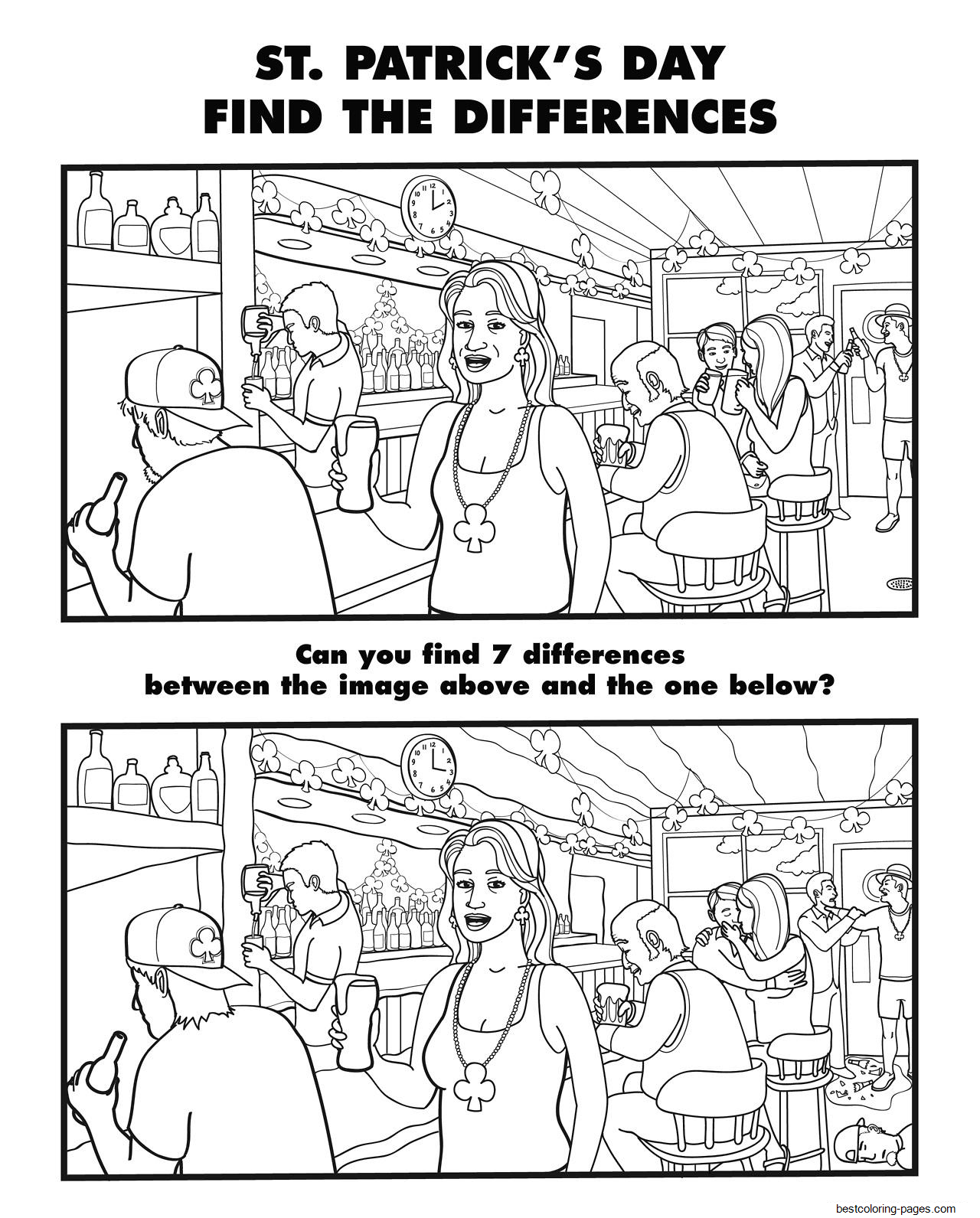 spot the difference printable for adults spot the difference adults printable printablercom spot the difference for printable adults