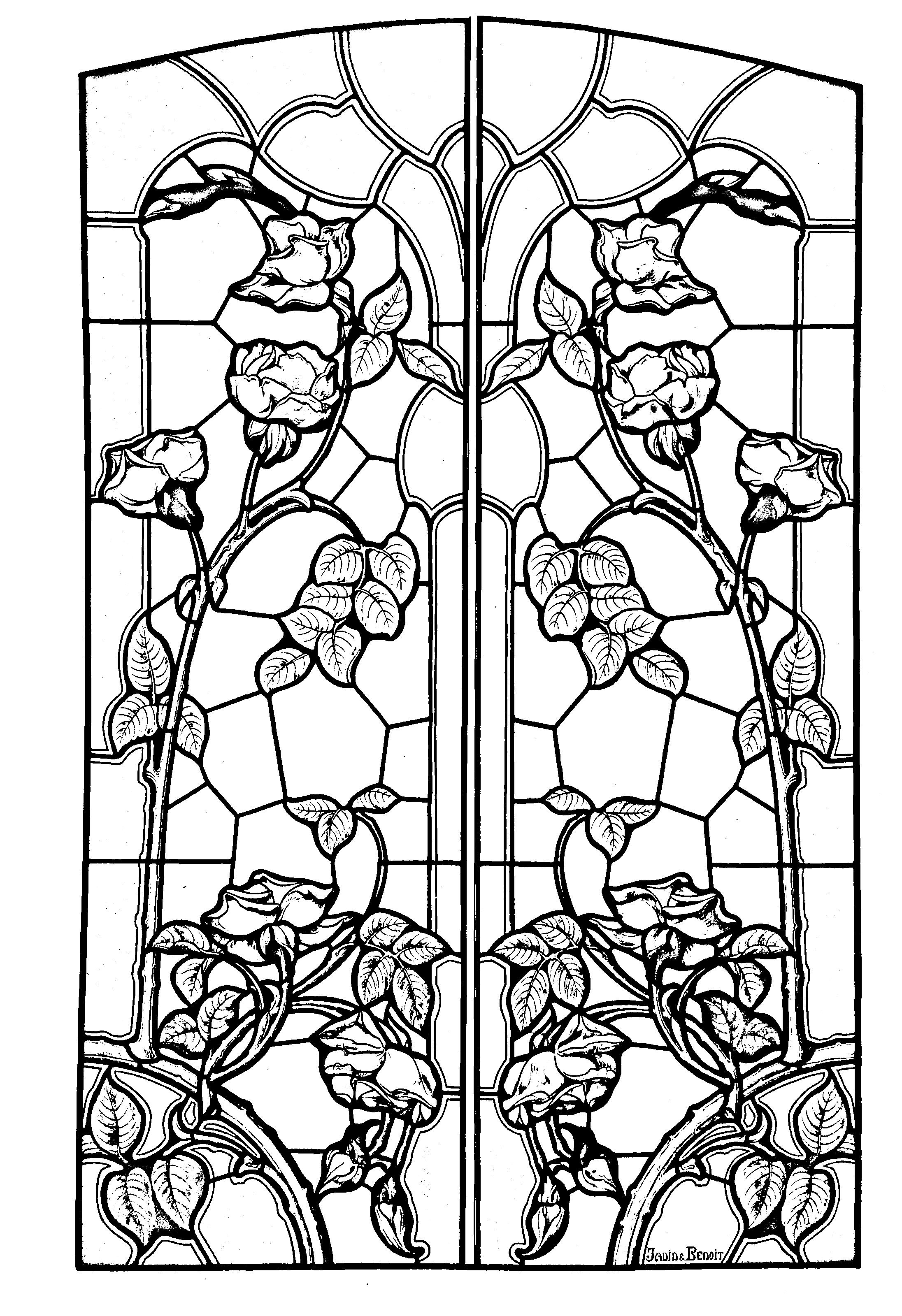 stained glass coloring pages for adults free stained glass coloring pages for adults printable to coloring adults stained glass pages for