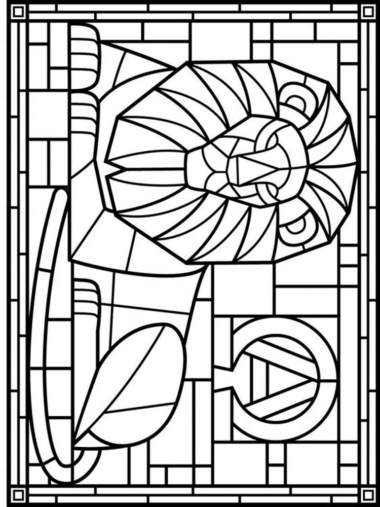 stained glass coloring pages for adults medieval stained glass coloring pages download and print stained coloring glass adults pages for