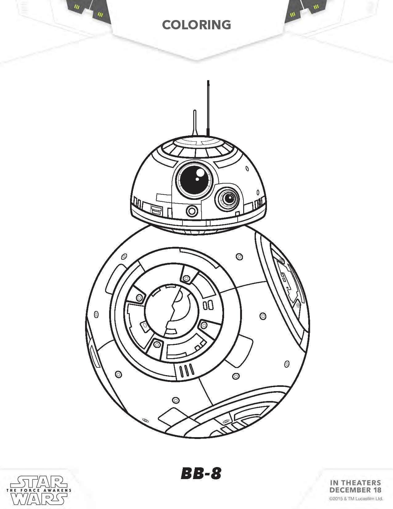 star wars free coloring pages free star wars printable coloring pages bb 8 c2 b5 free wars coloring pages star