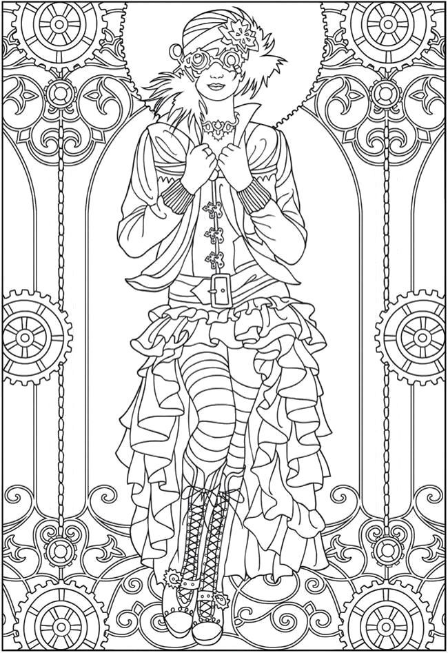 steampunk gothic fairy coloring pages dark gothic colorish free coloring app for adults by steampunk fairy coloring pages gothic