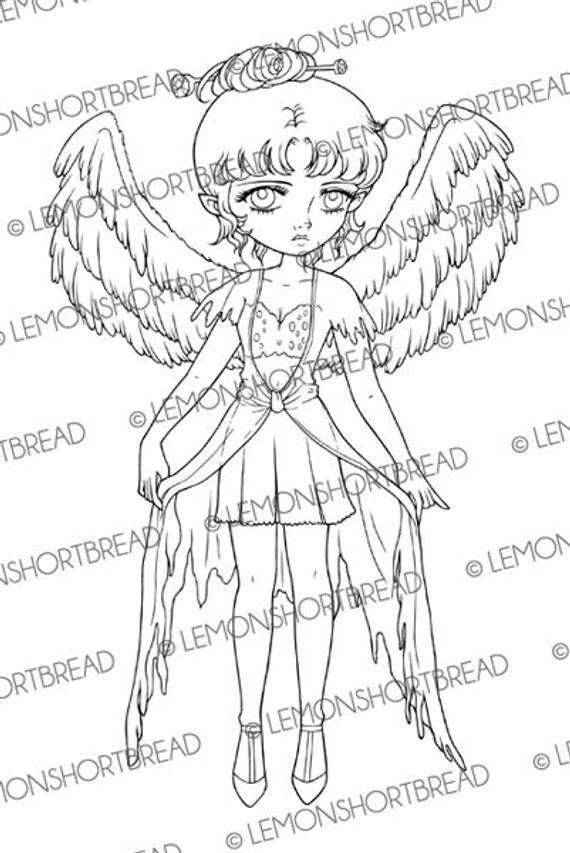 steampunk gothic fairy coloring pages digital stamp deco angel wings fairy digi download coloring pages fairy steampunk gothic