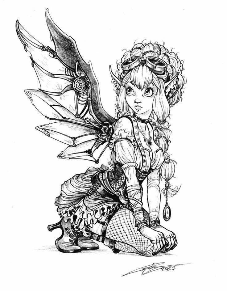 steampunk gothic fairy coloring pages pin by lynne crawford on steampunk fairy coloring pages coloring fairy pages steampunk gothic
