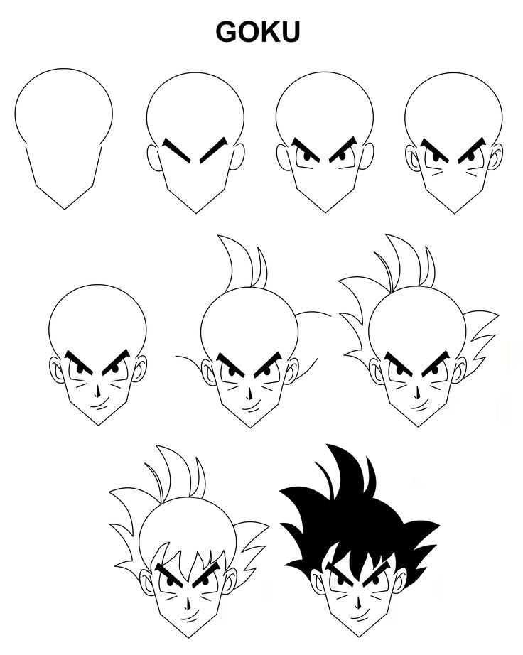 step by step drawing goku goku sketch step by step at paintingvalleycom explore by step goku drawing step