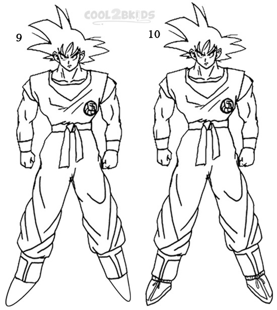 step by step drawing goku how to draw goku from dragon ball z with easy step by step step drawing by goku step