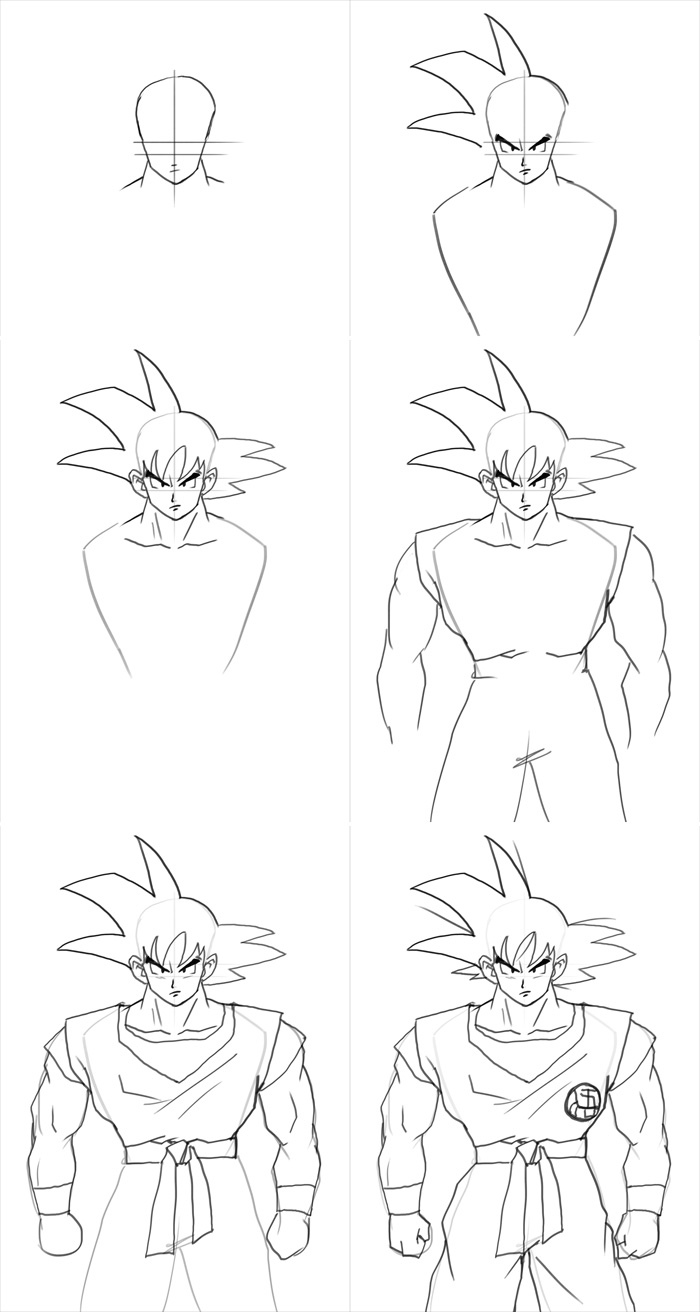 step by step drawing goku how to draw piccolo with images dragon ball art step step drawing goku by
