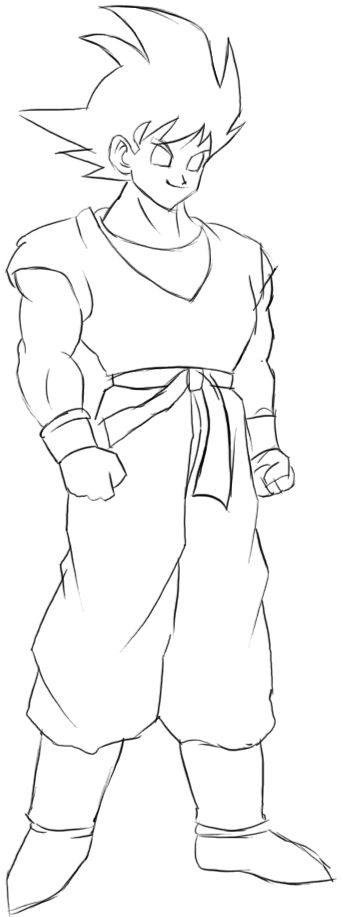 step by step drawing goku how to draw son goku from dragon ball z step by step goku drawing step by step