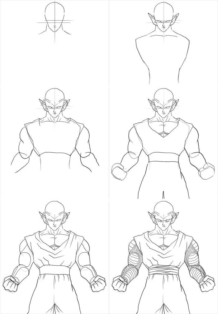 step by step drawing goku how to draw trunks dragon ball painting dbz drawings goku step drawing step by