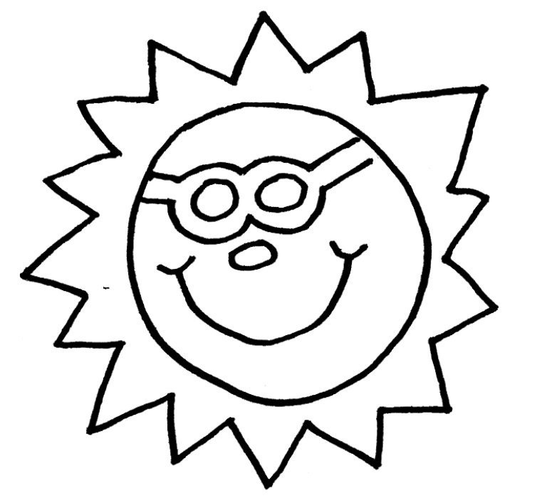 sun with sunglasses coloring page coloring cute summer sun with sunglasses stock vector sunglasses sun page coloring with