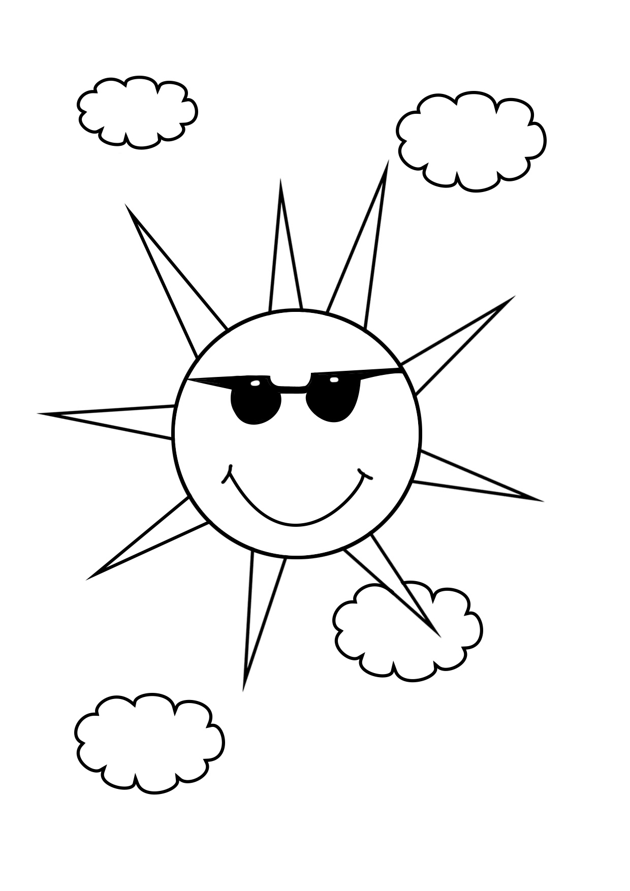 sun with sunglasses coloring page sun glasses coloring page inspirational 6 best sun glasses sun coloring sunglasses with page
