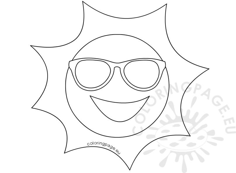sun with sunglasses coloring page sun with sunglasses coloring page coloring page with sunglasses sun