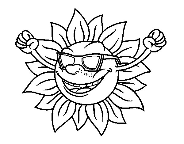 sun with sunglasses coloring page sun with sunglasses coloring page kidsworksheetfun sun coloring sunglasses with page