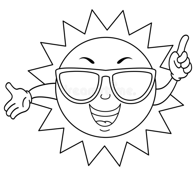 sun with sunglasses coloring page the sun with sunglasses coloring page coloringcrewcom sunglasses sun page coloring with