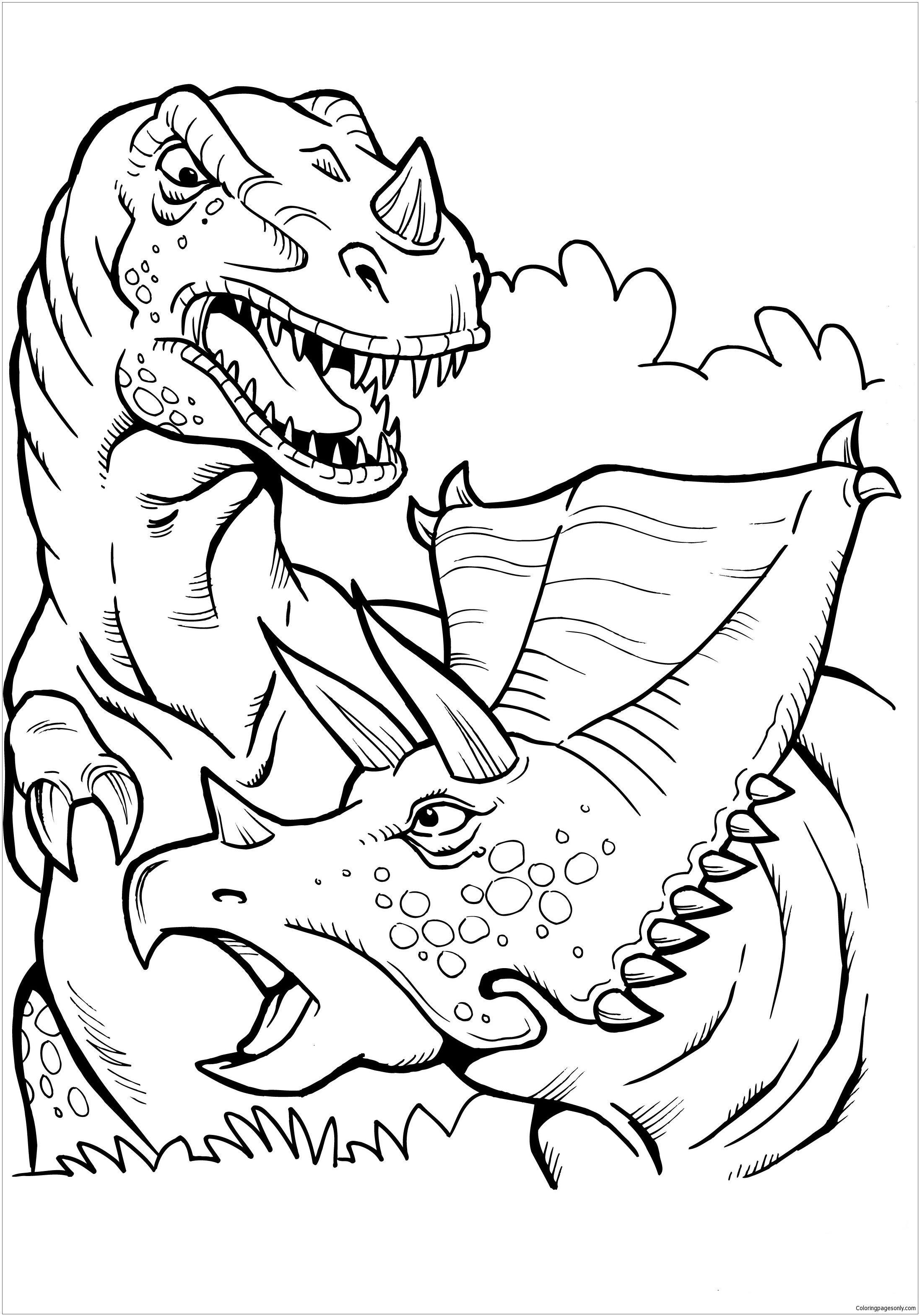 t rex colouring pictures trex coloring page t rex coloring mare and foal pictures rex t colouring