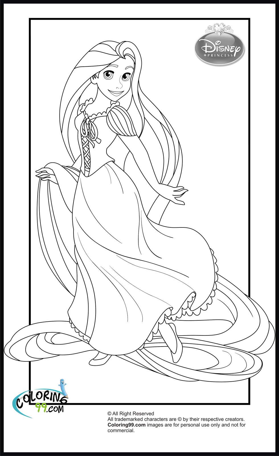 tangled pictures to colour tangled coloring pages disneyclipscom tangled colour to pictures