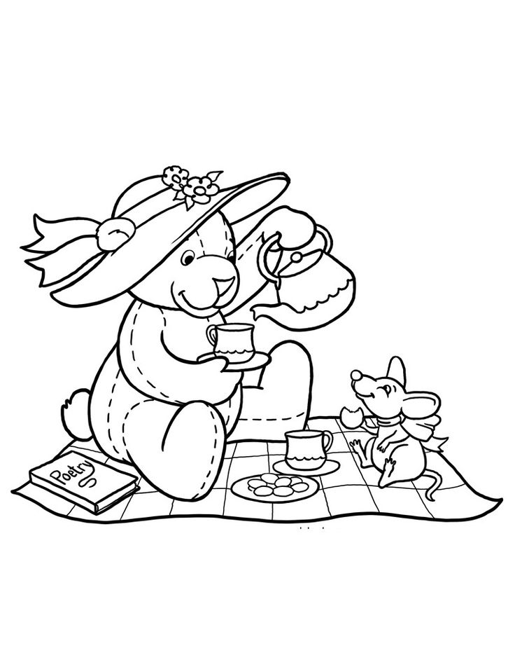 teddy bear picnic coloring pages 62 best teddy bears images on pinterest kids net teddy pages coloring picnic teddy bear