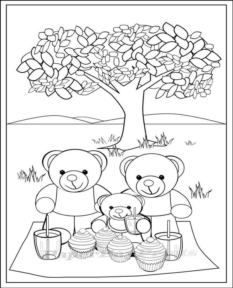 teddy bear picnic coloring pages free coloring pages pi39ikea st coloring pages picnic teddy bear