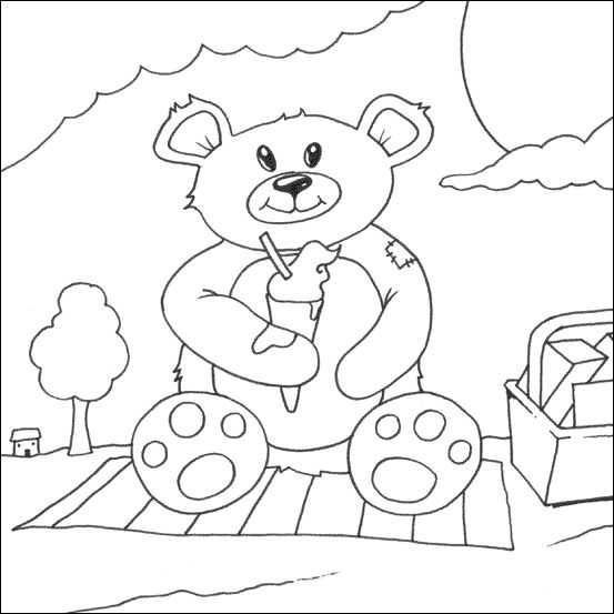 teddy bear picnic coloring pages google image result for httpwwwmyfreecolouringpages teddy pages coloring picnic bear
