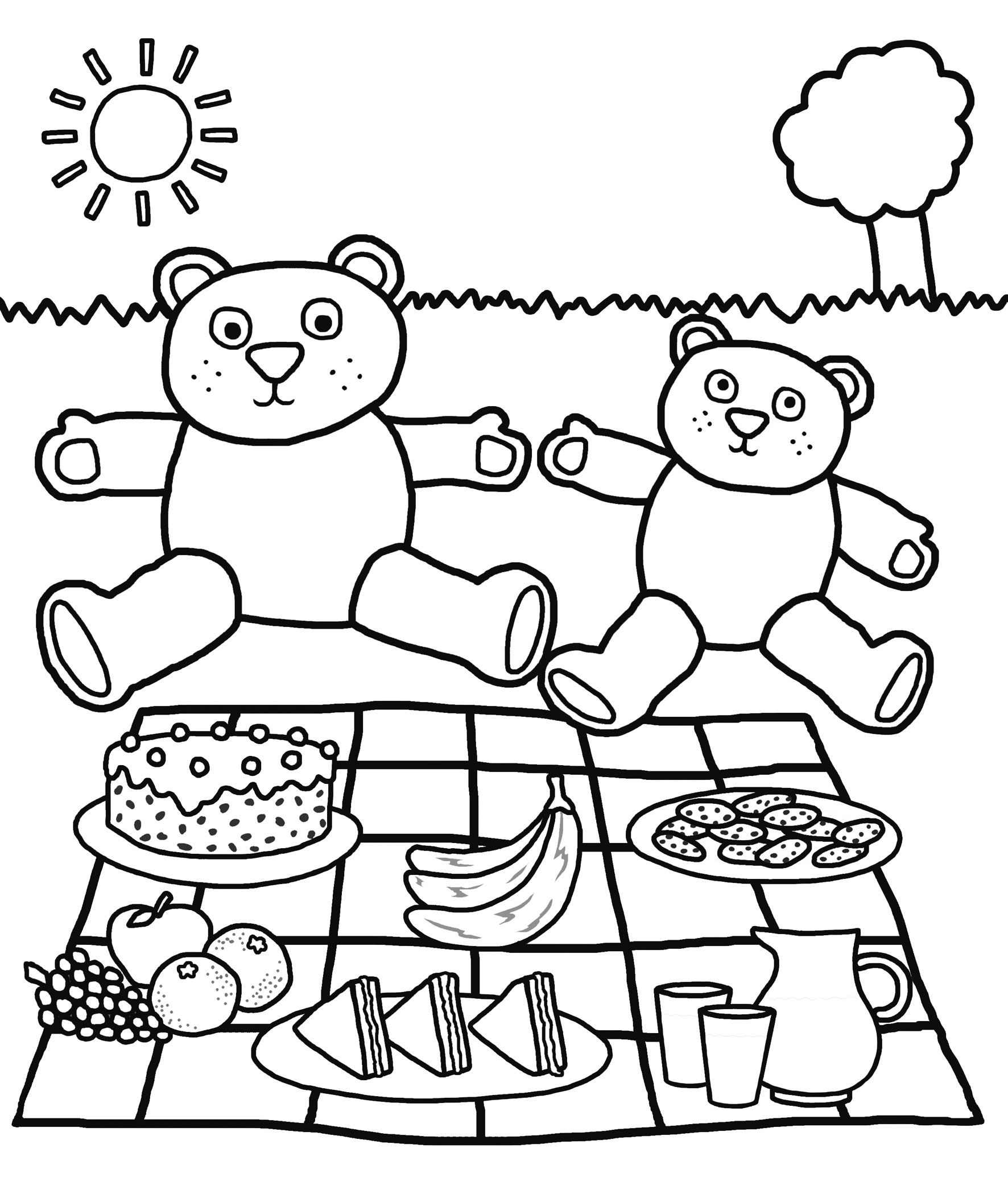 teddy bear picnic coloring pages printable teddy bear coloring pages for kids cool2bkids coloring pages bear teddy picnic