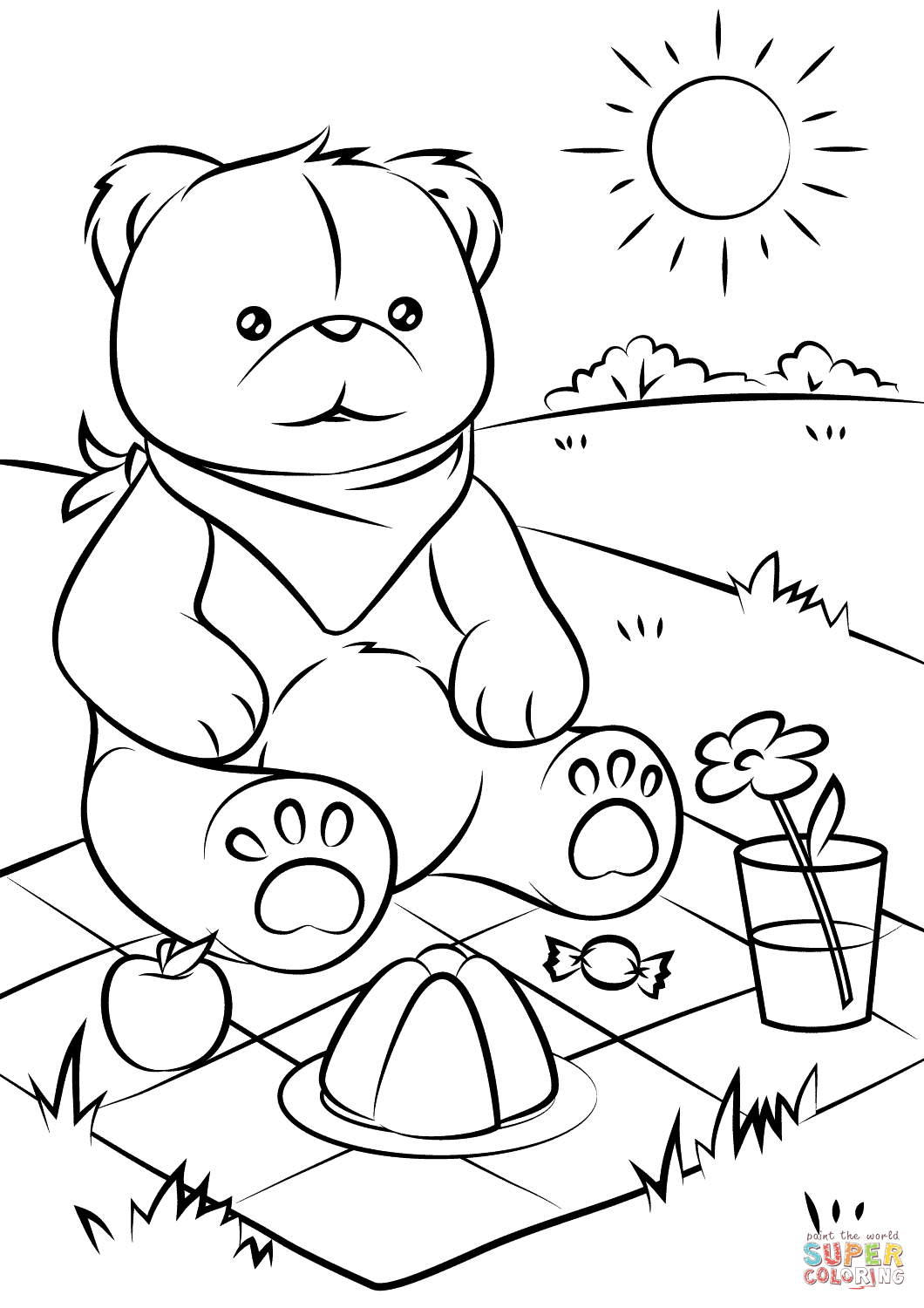 teddy bear picnic coloring pages teddy bear picnic coloring pages for kids it39s a teddy teddy picnic bear coloring pages