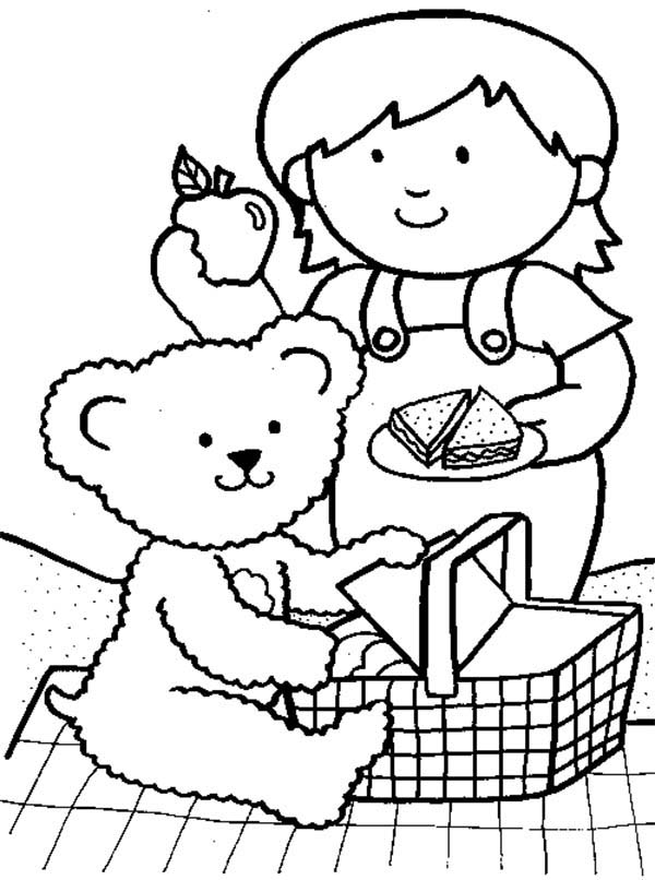 teddy bear picnic coloring pages teddy bear picnic invitations cute freeand printable picnic pages coloring teddy bear