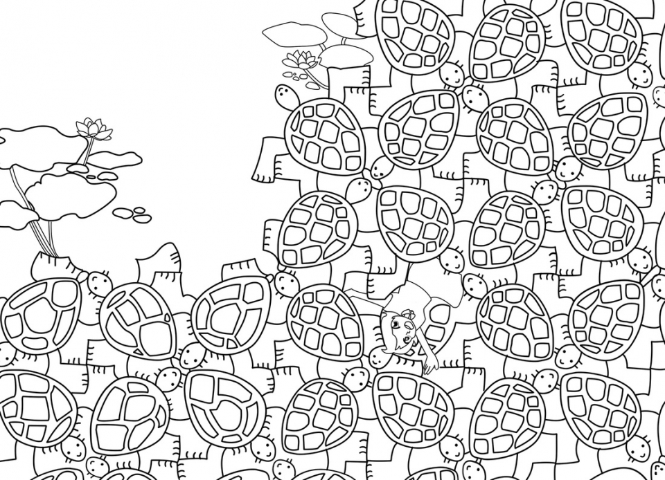 tessellations coloring pages bird fish tessellation by mc escher coloring page free coloring pages tessellations