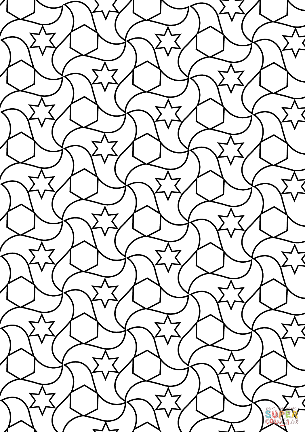 tessellations coloring pages get this free tessellation coloring pages adult printable tessellations coloring pages