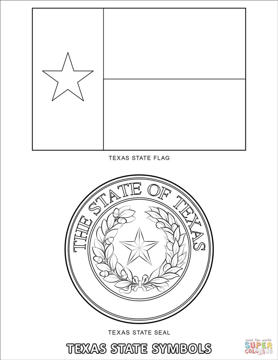 texas symbols coloring pages color or paint the flag flag coloring pages coloring symbols pages texas coloring
