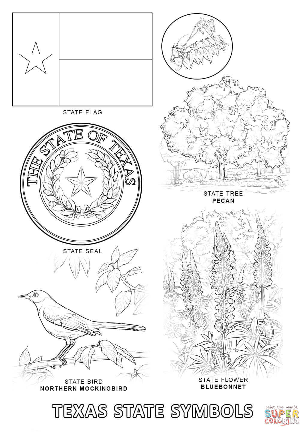 texas symbols coloring pages texas map coloring page coloring home pages coloring symbols texas