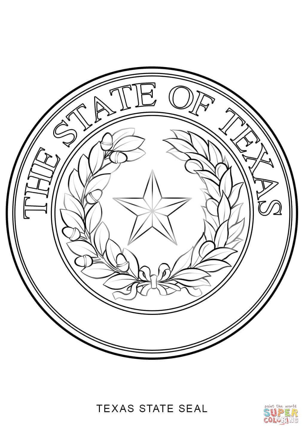 texas symbols coloring pages texas state outline coloring page texas symbols state pages coloring symbols texas