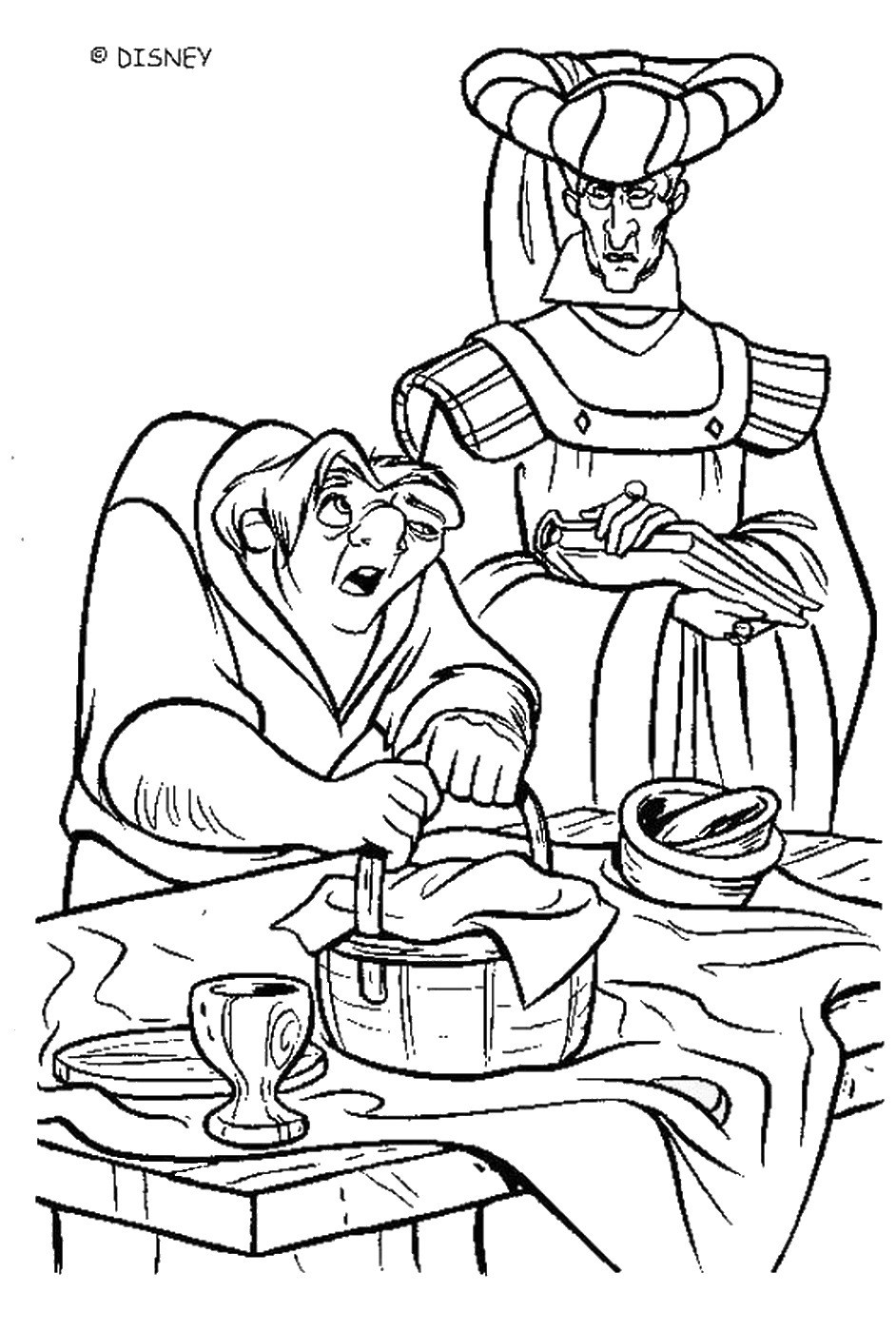 the hunchback of notre dame coloring pages the hunchback of notre dame hca coloring page disney notre hunchback coloring of dame pages the