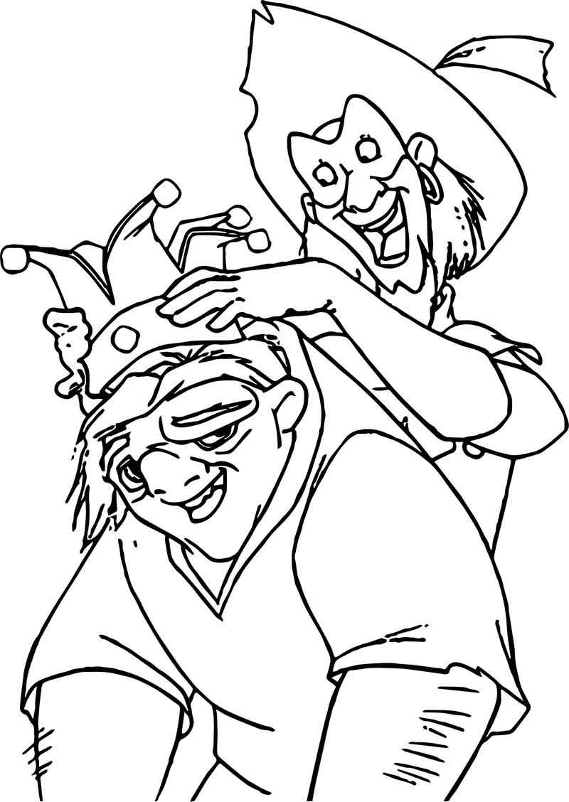the hunchback of notre dame coloring pages the hunchback of notre dame quasi clop in coloring page of notre dame coloring pages hunchback the