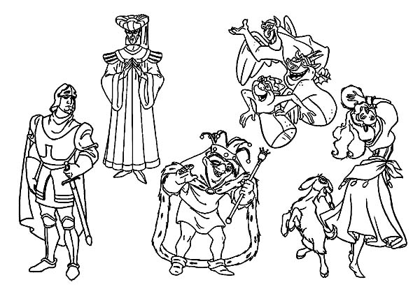 the hunchback of notre dame coloring pages the hunchback of notre dame to print for free the hunchback dame pages of the coloring notre