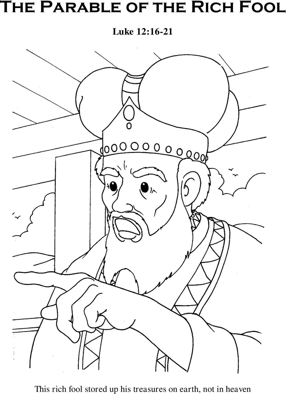 the rich fool coloring page best 50 parable of the rich fool coloring page hd wallpaper coloring rich the fool page