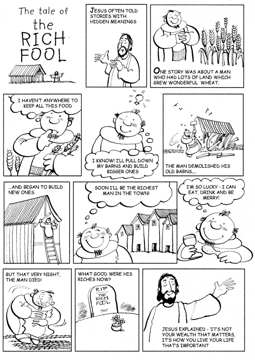 the rich fool coloring page parable of the rich fool coloring page coloring pages rich coloring fool page the