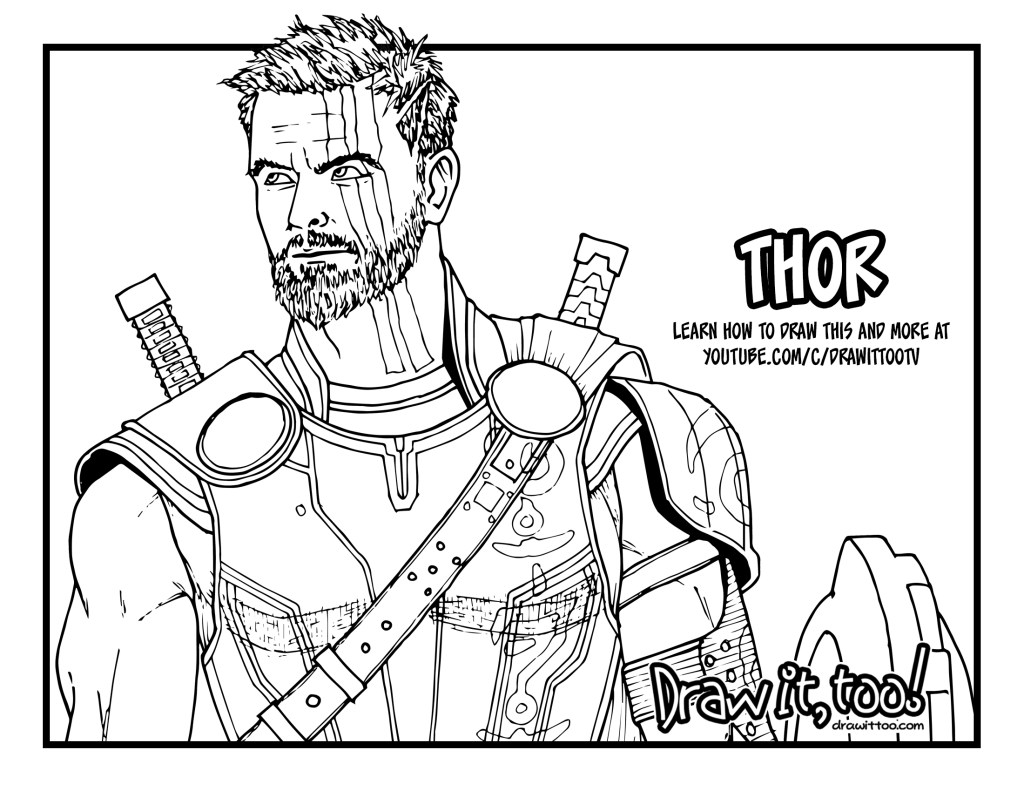 thor coloring pages how to draw thor thor ragnarok drawing tutorial draw thor pages coloring
