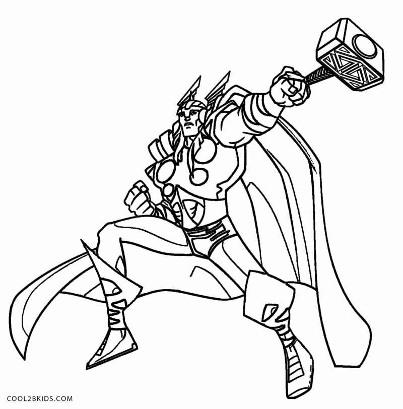thor coloring pages printable thor coloring pages for kids cool2bkids pages coloring thor