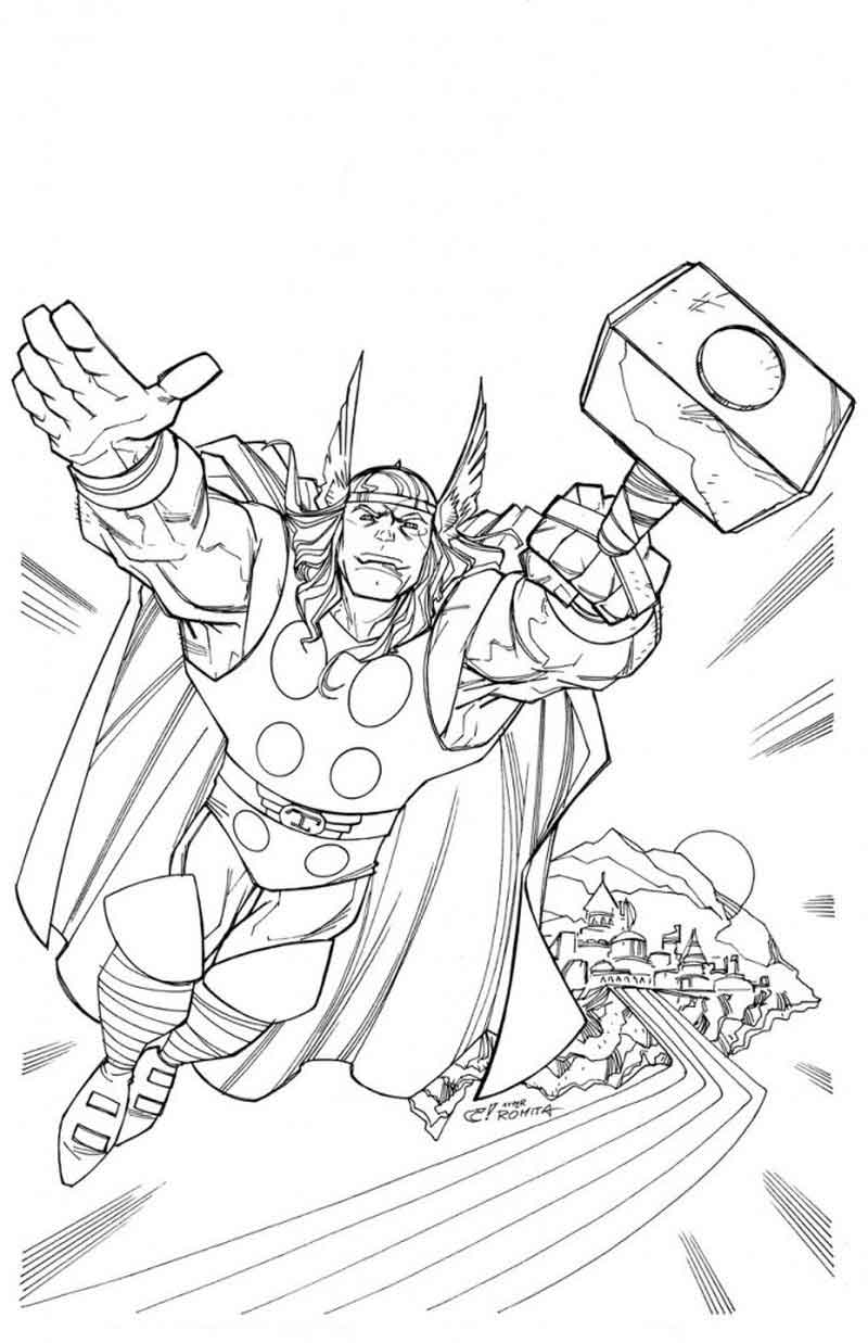 thor coloring pages thor coloring pages kids coloring thor pages