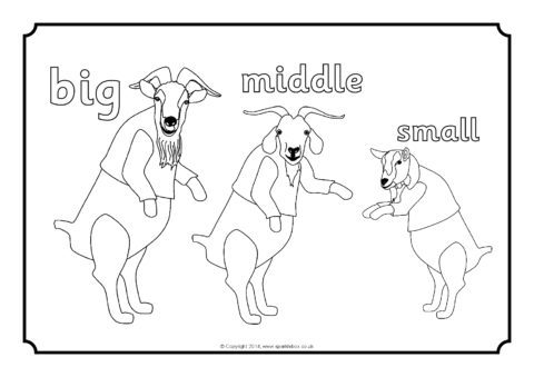three billy goats gruff coloring pages the three billy goats gruff activities activity shelter goats three billy coloring pages gruff