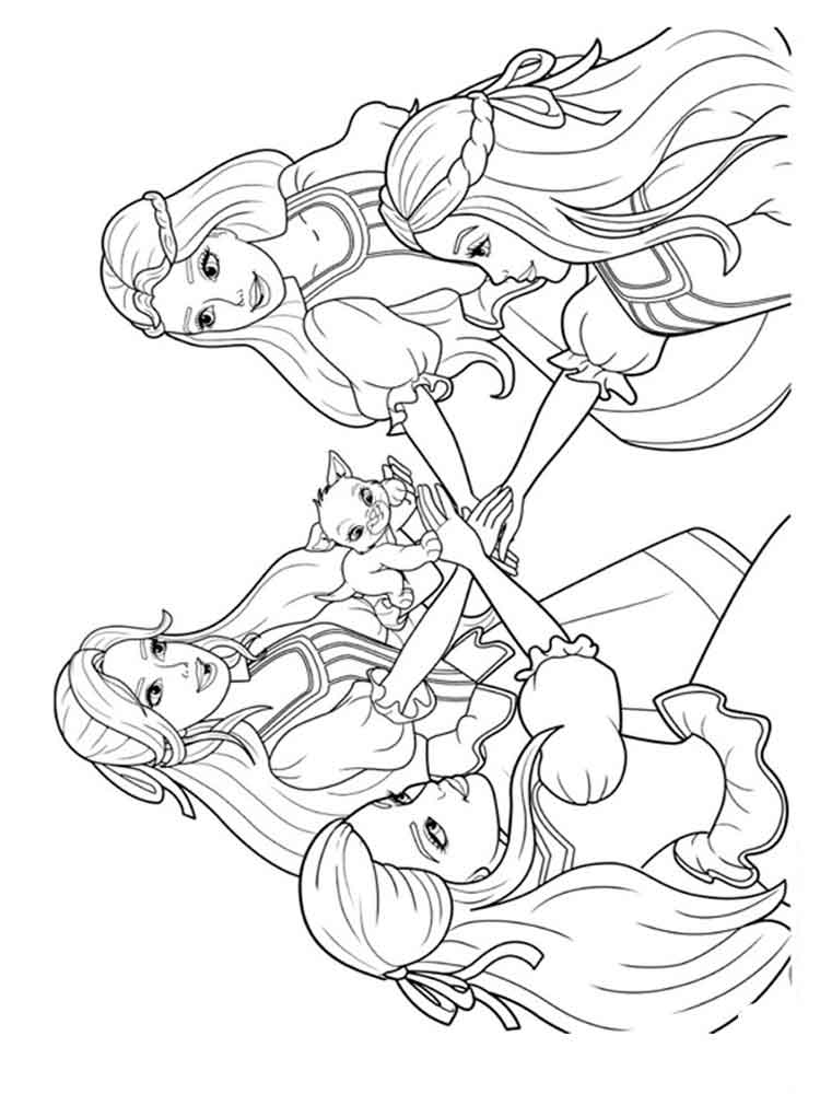 three girls coloring page barbie and the three musketeers coloring pages free page three coloring girls