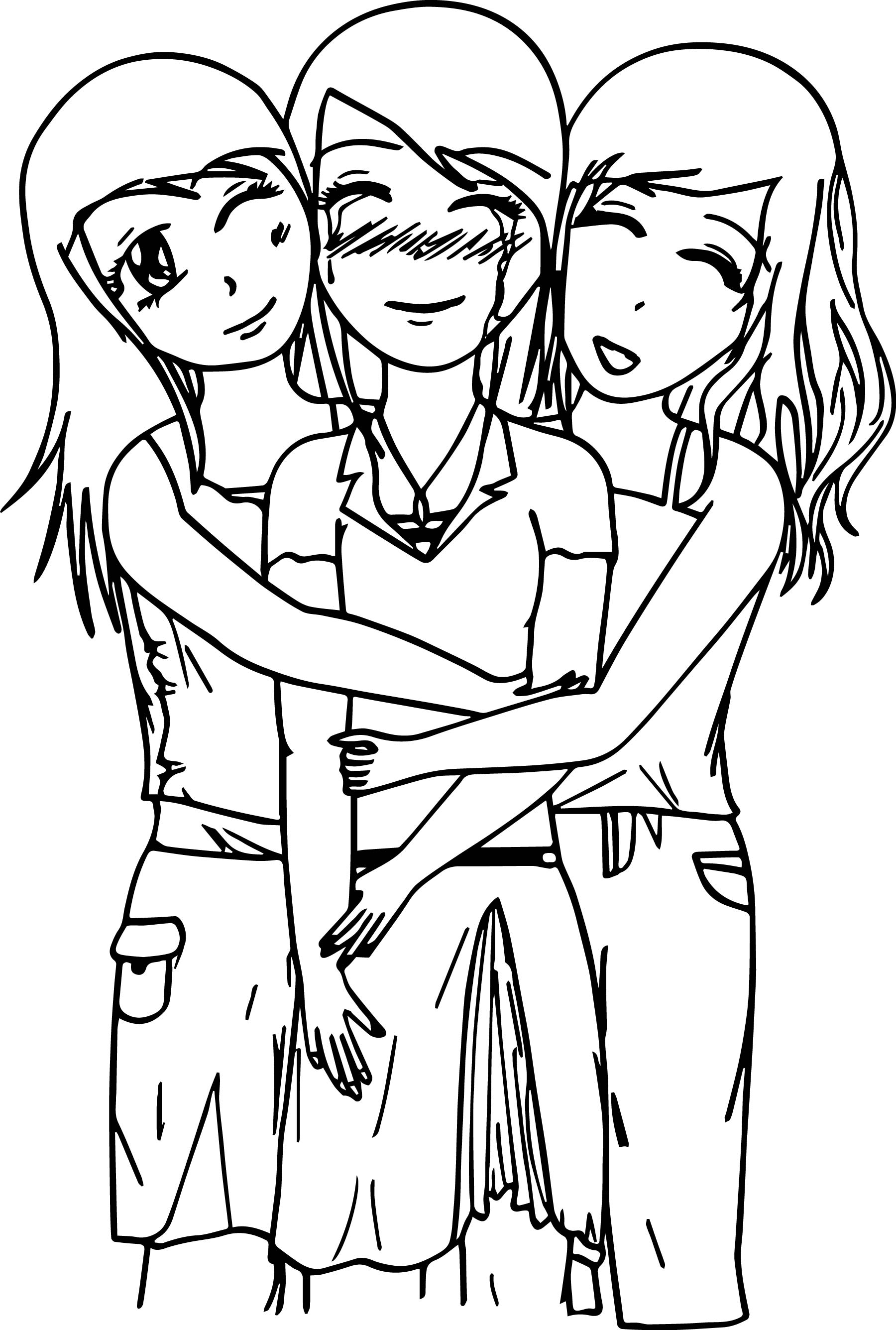three girls coloring page bratz coloring pages three girl dolls colouring sheet coloring three girls page