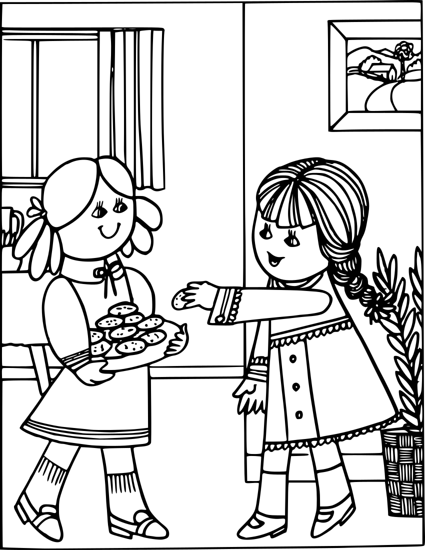 three girls coloring page coloring pages for 3 4 year old girls free printable coloring three page girls