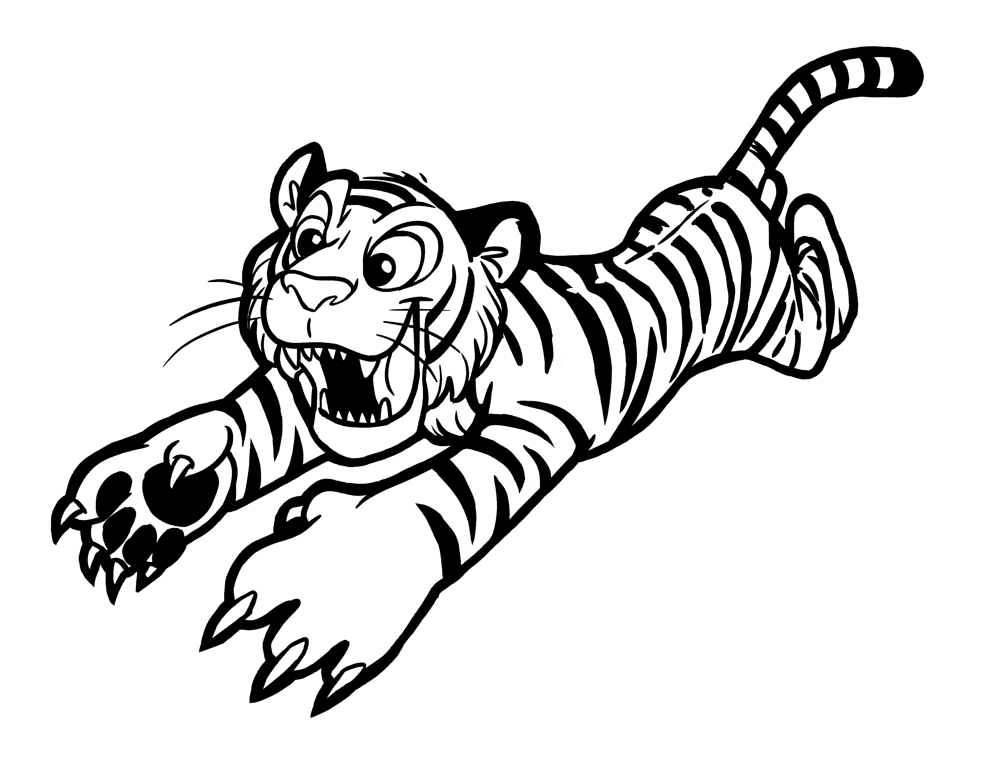 tiger colouring pictures tiger coloring pages free download on clipartmag colouring pictures tiger