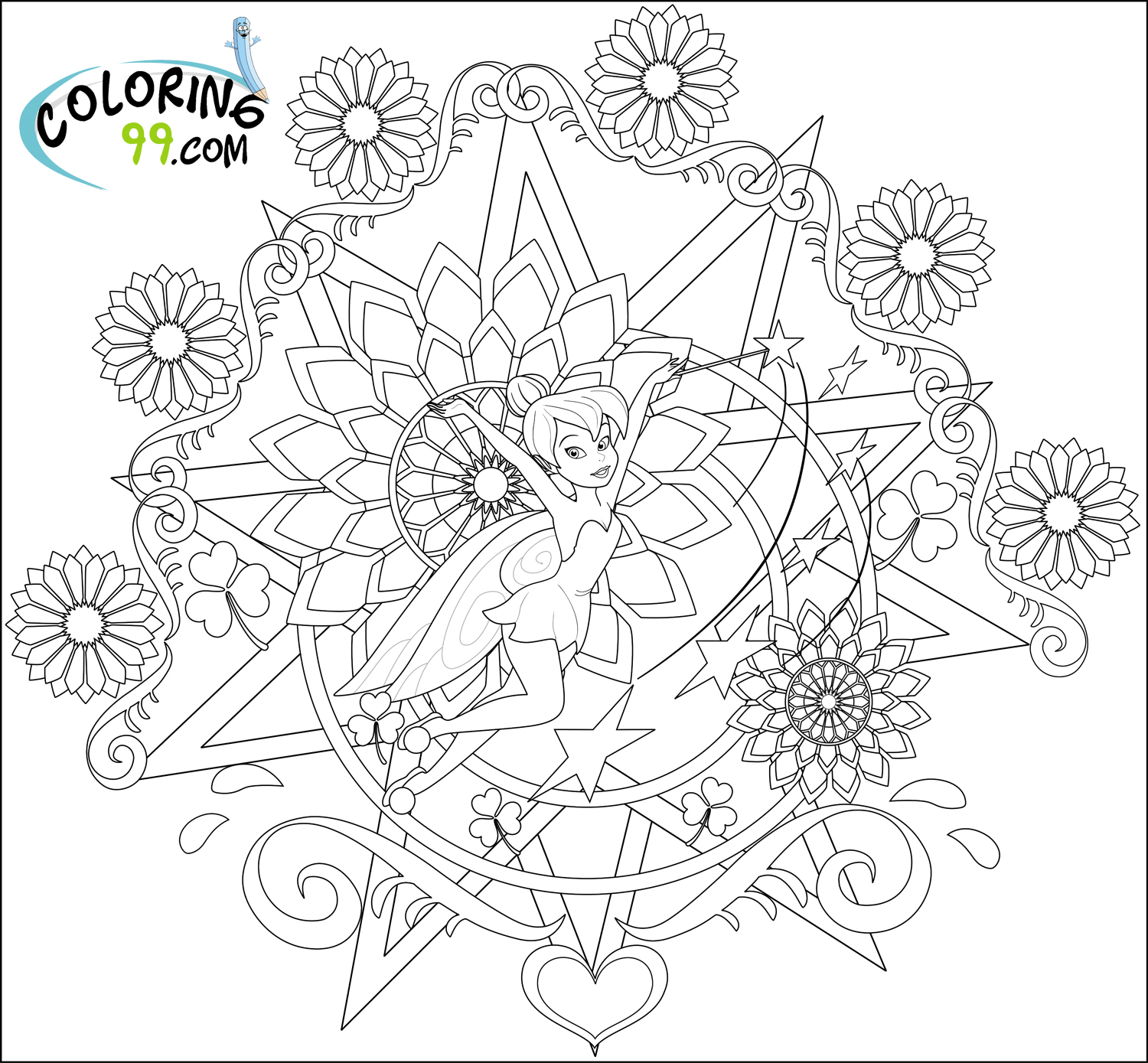 tinkerbell colouring in fairy coloring pages in colouring tinkerbell