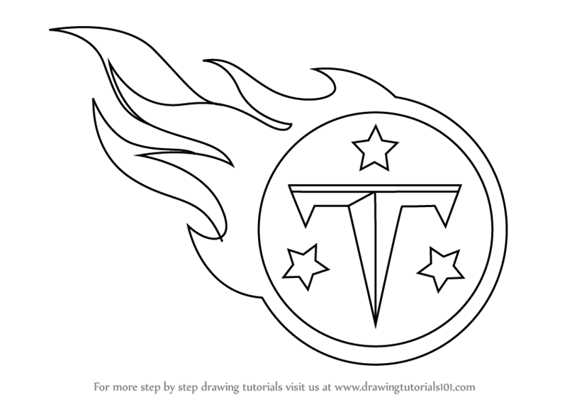 titans logos free learn how to draw tennessee titans logo nfl step by step titans logos free