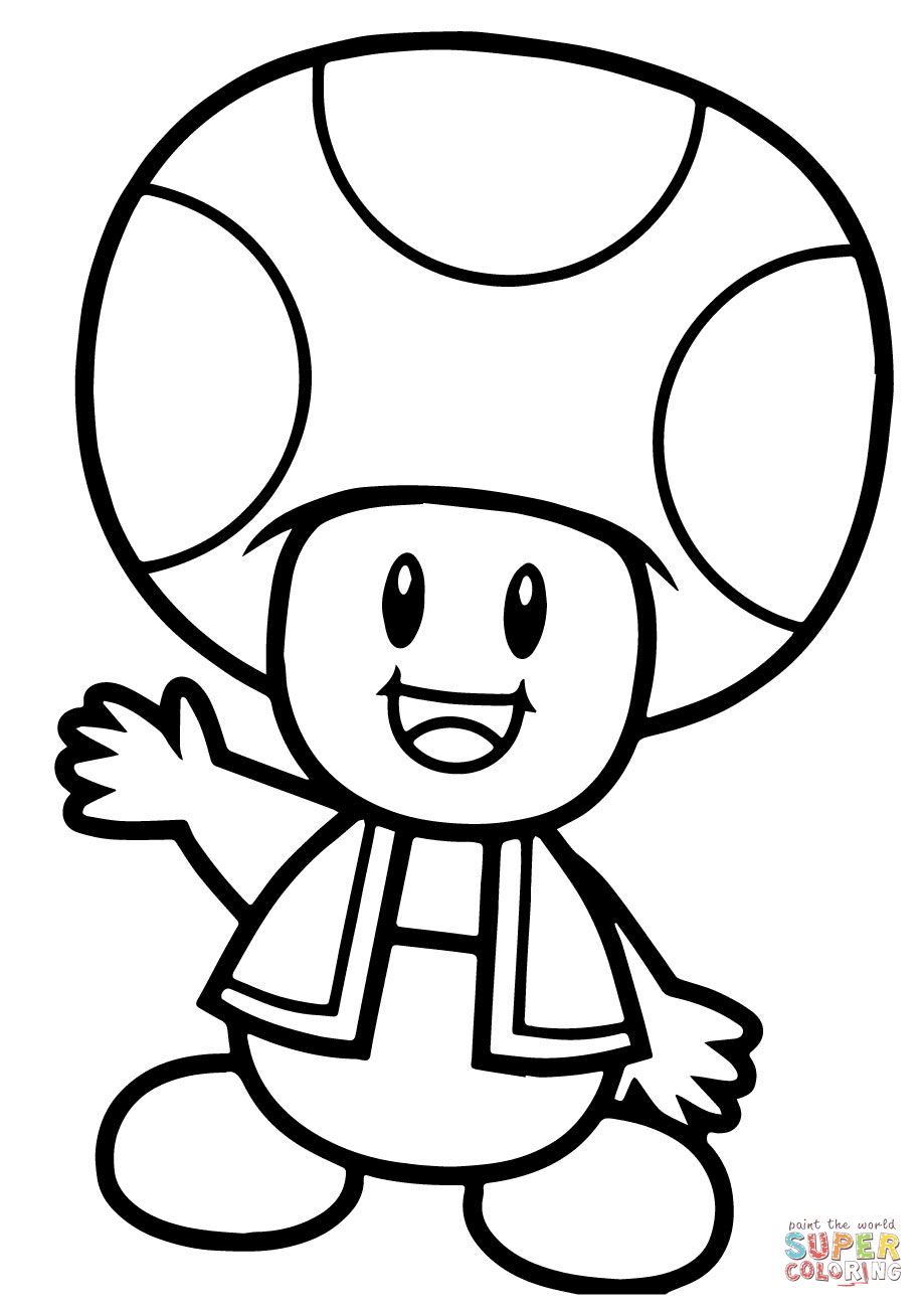 toad coloring pages from super mario mario toad coloring pages in 2020 super mario coloring toad coloring mario pages from super