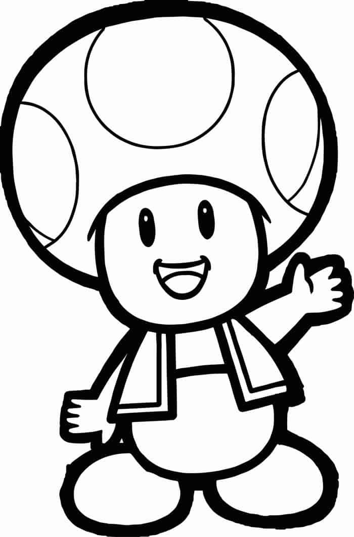 toad coloring pages from super mario mario toad drawing at getdrawings free download coloring from mario super pages toad